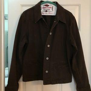 Chico's Platinum denim brown jacket
